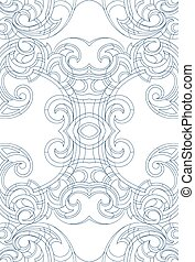 Art Nouveau style ornament - Creative background ornament in...