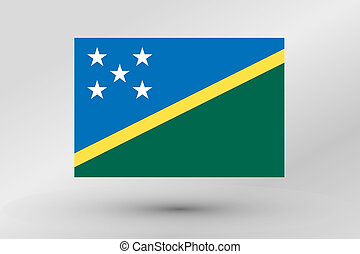 Flag Illustration of the country of Solomon Islands - A Flag...