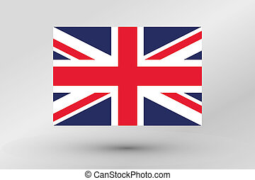 Flag Illustration of the country of  United Kingdom