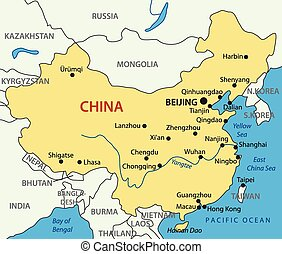 People's Republic of China - map