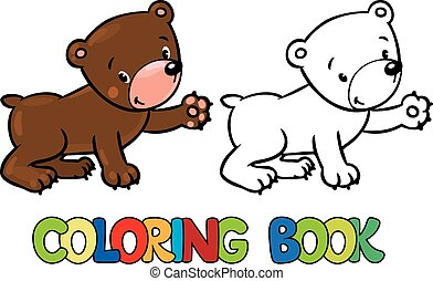 Coloring book of little funny bear