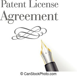 Patent License - illustration of a Patent License Agreement...