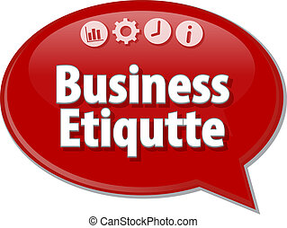 Business Etiqutte  blank business diagram illustration
