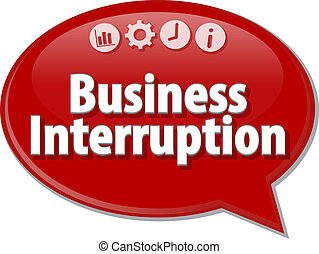 Business Interruption blank business diagram illustration -...