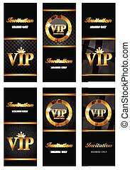 VIP Members Card Set Vector Illustration EPS10
