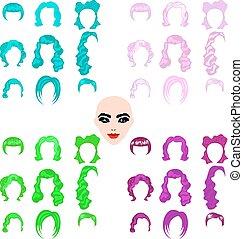 Female punk hair