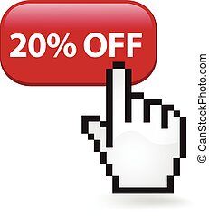 20 Percent Off Button - Twenty percent off button with a...