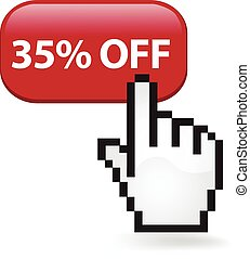 35 Percent Off Button