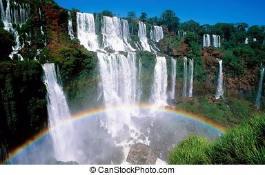 Waterfall splendor with a great rainbow