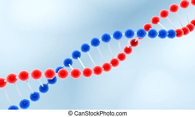 Seamless loop of rotating molecule of DNA - HD video...