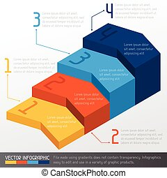 Template business infographic with arrow 3d design