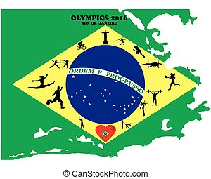 Summer Olympic Games two thousand sixteenth year in Brazil
