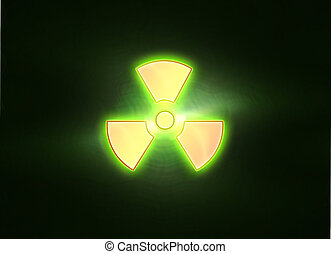 bio-hazard icon on yellow white background