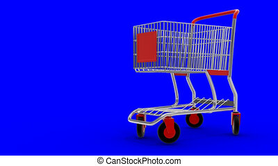 Shopping cart transforming in high-speed transport with...