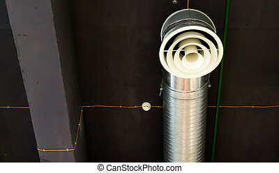 Industrial Air Conditioning Unit and Fan Vent