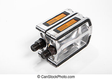 Bicycle pedals - Two bicycle pedals of aluminum standing...