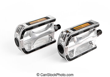 Standing bicycle pedals - Two bicycle pedals of aluminum...