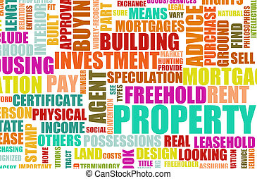 Property Real Estate Concept as a Abstract