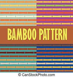 Seamless pattern bamboo stems horizontal