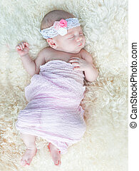 newborn - Little newborn baby sleeps tight 15 days