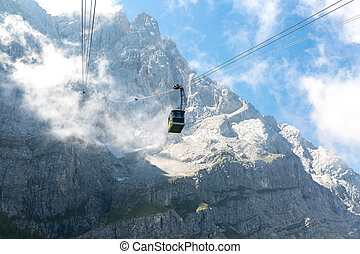 Cable car at Zugspitze Mountain Germany - Cable car to...