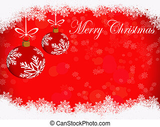 Christmas decoration - greeting card for winter holidays