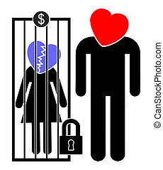 Servile Marriage - Woman is being sold for money or forced...