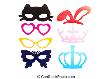 Photobooth Birthday and Party Set - glasses, hats, crowns,...