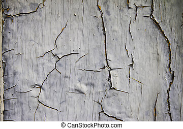 Old plank with peeling paint