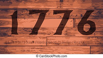 1776 Independence Day Brand - Date Independence Day branded...
