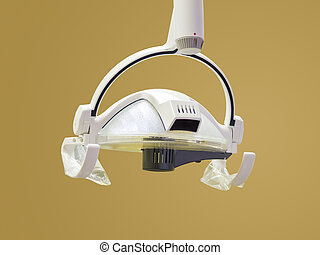 Dentists Light - An isolation of a medical light hanging...