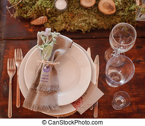 wedding table - beautifully decorated wedding table in...
