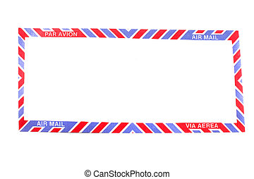 Air Mail envelope border - Air Mail envelope in different...
