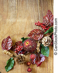 autumnal composition with fruits