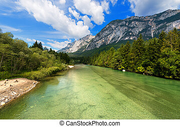 Gail River - Carinthia Austria - The green Gail River the...
