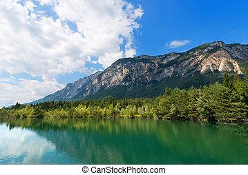 Gail River - Carinthia Austria - The green Gail River the...