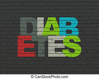 Health concept: Diabetes on wall background