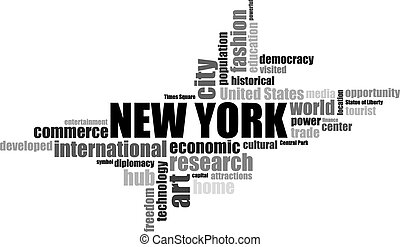 new York EEUU lettering illustration