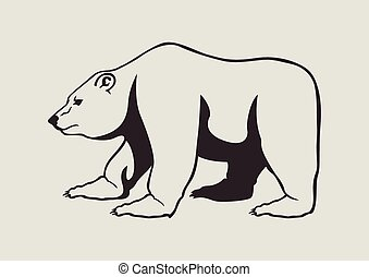 grizzly bear - vector illustration of grizzly bear