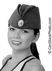 Lovely Soviet Brunette Girl