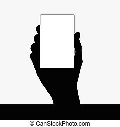 card in hand black vector silhouette