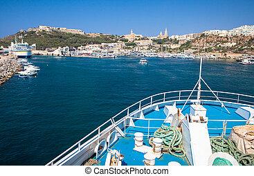 Popeye village in Malta - MGARR, MALTA - JULY 19: Port at...