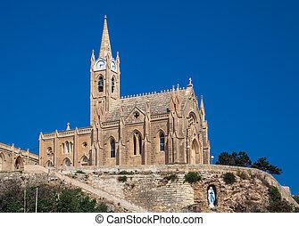 Church in town Mgarr - Gozo, Malta