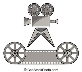 Overhead projector - Vector drawing of a movie camera and...