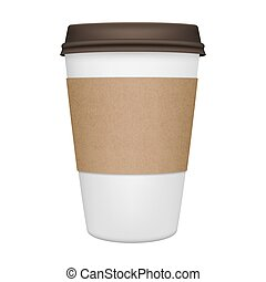 Coffee Cup Isolated - Realistic paper coffee cup iIsolated....