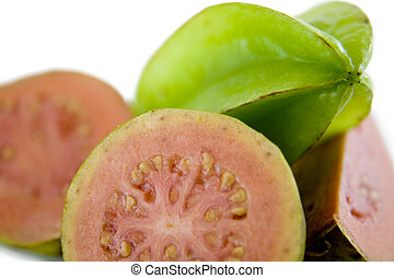 Guava and starfruit - Guava and Starfruit cut with selective...