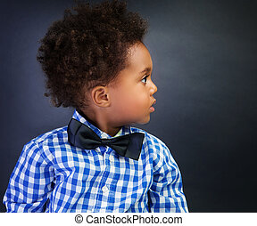Little African schoolboy - Portrait of cute little African...