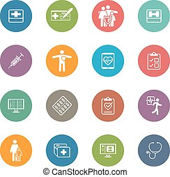 Medical and Health Care Icons Set - Medical Health Care...