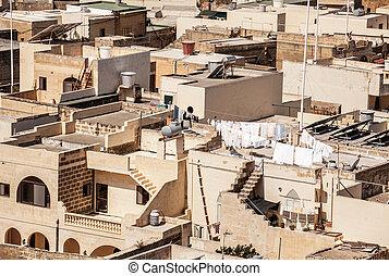 Houses at town Xewkija - Gozo, Malta