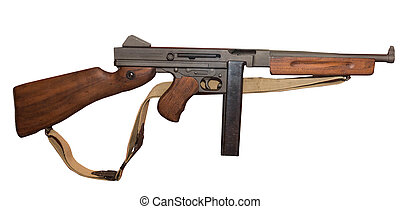 Thompson Submachine Gun - U.S. M1A1 Thompson .45 Caliber APC...